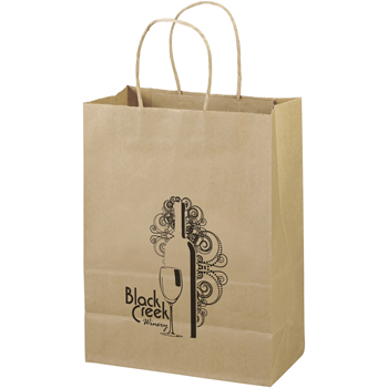 Eco-Friendly Brown Paper Tote Bags - 10W x 5 x 12-7/8H