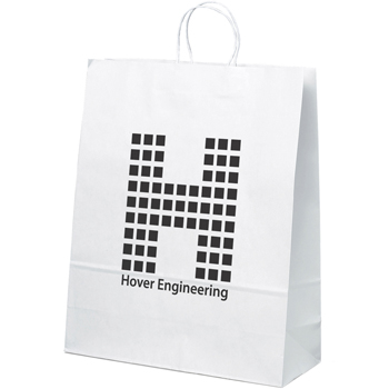 Dove White Paper Bag 16W X 6D X 19.25H