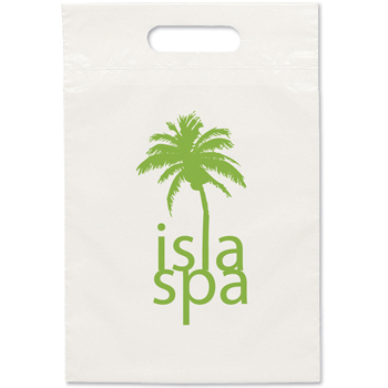 9-1/4 W x 14 H - Recyclable Die Cut Handle Plastic Tote Bags