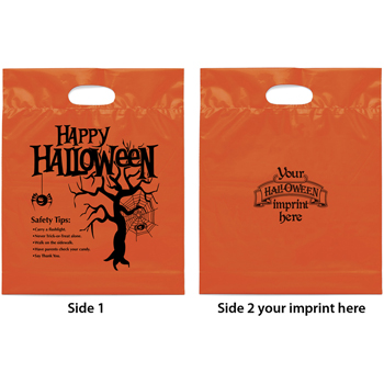 Happy Halloween Plastic Goodies Bag 12W X 15H X 3D