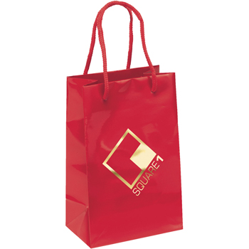 Retro Gloss Laminated Paper Tote Bags - Small