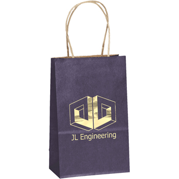 Colorful Matte Paper Shopping Tote Bags - X-Small
