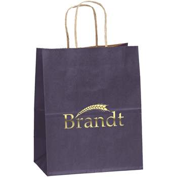 Colorful Matte Paper Shopping Tote Bags - Small
