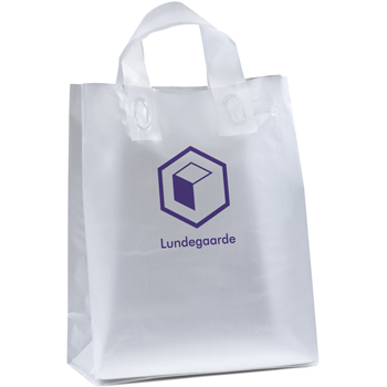 10 W x 5 x 12-7/8 H - Universal Frosted Plastic Shopping Tote Bags